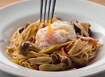 Creamy Mushroom Pasta With Soft-boiled Egg